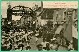 Estissac - Aube - Défilé Grand Chemin  - Gand Concours National  De Gymnastique 10 Août 1913 - Animé - - Troyes