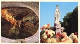 Francia - Fotografia LOURDES, LA SOURCE MIRACULEUSE - LA VIERGE COURRONNEE - PERFETTA N34 - Riproduzioni