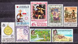Selezione St.Christopher-Nevis Anguilla - Francobolli
