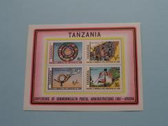 Conference Of Commonwealth Postal Administrations 1981 - ARUSHA ( Zie/voir Foto´s Voor/pour Détails ) !! - Tanzanie (1964-...)