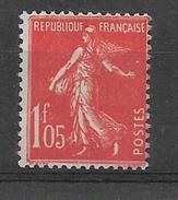 FRANCE 1924-1926  Semeuse YT 195 Vermillon    Neuf** Cote 2015 = 21.50 Euros  (5 Ex.) - France
