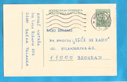 1985 POSTA JUGOSLAVIJA JUGOSLAWIEN POSTKARTE POSTSIMBOL