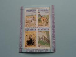 ENDANGERED ANIMAL SPECIES OF TANZANIA ( Zie/voir Foto´s Voor/pour Détails ) !! - Tanzanie (1964-...)