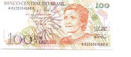 Billete Brasil. 100 Cruzeiros . Plancha. (ref. 6-724) - Brasil