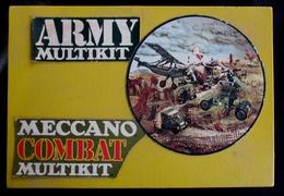 MECCANO COMBAT MULTIKIT - En Boite De Bois - 1975 - Livret De Montage Inclus - Meccano