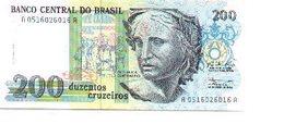 Billete Brasil. 200 Cruzeiros . Plancha. (ref. 6-727) - Brasil