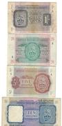 1 Shilling. + 2/6 Shillings. + 5 Shilling + 10 Shillings BRITISH MILITARY AUTHORITY 1943  LOTTO 1601 - Occupazione Alleata Seconda Guerra Mondiale