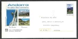 ANDORRA CORREO FRANCES PRET A PORTER SOBRE FRANQUEADO ( 3-A-C.02.17) - Cartas
