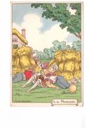 Illustration Illustrateur Marcel Jeanjean La Paresse Sept Peches Capitaux Meule Botte Foin - Andere Illustrators