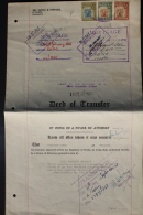 Southern Rhodesia Deed Of Transfer  With Revenue Stamps. - Südrhodesien (...-1964)