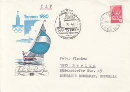 OLYMPISCHE SPIELE-OLYMPIC GAMES, MOSCOW 1980, Special Cover / Stamp / Postmark !! - Estate 1980: Mosca