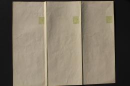 Victoria Set Of  3 Newspaper Wrappers One  Penny Unused - Briefe U. Dokumente