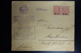Estland Eesti CoverTallinn ToAmsyerdam Pair  1 Mk. Stamps  Intern. Sammler Union  1921 - Estland