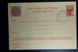 Letland / Latvia  German Occupation Stamps Postcard Mi Nr P2 Cancelled Riga 1941 - Lettonia