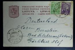 Letland / Latvia  Postcard 1921 Zeimflis To Bad Salzbrunn  Germany (now Szczawno Zdrój Poland) - Lettland