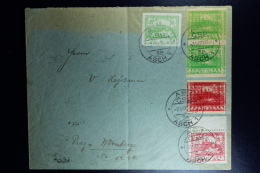 Czechoslovakia: Cover 1920 Asch To Prag With Misprinted Stamps