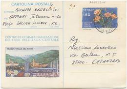 1980 CARTOLINA POSTALE PESCIA FIORI L. 120 SENZA AFFRANCATURA AGGIUNTIVA 19.9.81 OTTIMA QUALITÀ (7081) - 6. 1946-.. Repubblica