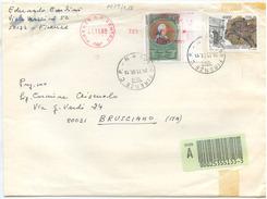 1998 ALTI VALORI VERRI L: 3600 + EQUITAZIONE L. 4000 BUSTA ASSICURATA 24.11.98 TIMBRO ARRIVO OTTIMA QUALITÀ (7079) - 1991-00: Storia Postale