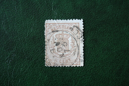 Wapenzegel 1/2 Cent NVPH 13 (Mi 13) 1869 Gestempeld / Used NEDERLAND / Niederlande