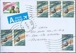Letter With Six Stamps Aerospace Institute Of Belgium.Space.Capsule And Ship Espacial.Orion Crew Exploration Vehicle.2sc