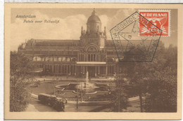 HOLANDA TARJETA CON MATASELLOS JUEGOS OLIMPICOS DE 1928 AMSTERDAM