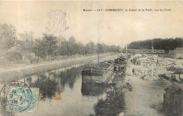 COMMERCY  LE CANAL ET LE PORT VUS DU PONT - Commercy