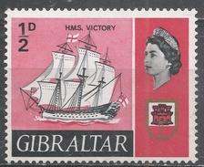 Gibraltar 1967. Scott #186 (M) Victory, Nelson's Flagship And Arms Of Gibraltar * - Gibraltar