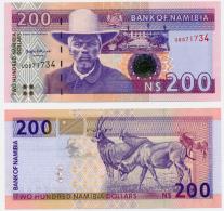 1995 // BANK OF NAMIBIA // 200 $ // UNC - Namibie