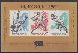 Belgie 1962 Europol Blok ** Mnh (21531) - Erinnophilie
