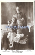 66364 ROYALTY OUR EMPEROR COUPLE WITH HIS GRANDCHILDREN POSTAL POSTCARD - Familles Royales
