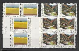 1977 Portogallo Portugal EUROPA CEPT EUROPE 8 SERIE Di 2v. In Quartine MNH** - Europa-CEPT