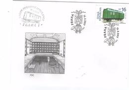Czech Republic 2017 - Postal Wagon, FDC - Trains