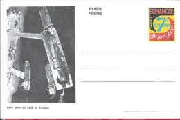 Sonangol.Angola.Postcard Stationery Soyo Jetty Base Kwanda.Oil.Ganzsachen Soyo Steg.Postwaardestukken.Olie.Öl.Raro.1977
