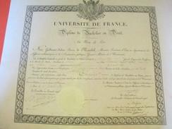 Diplôme / Bachelier En Droit/Univ. De France / Ministre Des Affaires Ecclésiastiques/COURCIER/Charles X/1829    DIP171 - Diplômes & Bulletins Scolaires