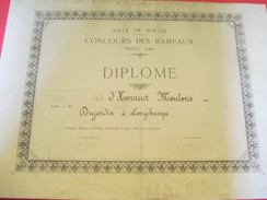 Diplôme / Agriculture/ROUEN/Concours Des Rameaux/Prix D'Honneur Moutons/DUJARDIN/Longchamps/1950   DIP172 - Diplomi E Pagelle
