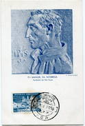 INDE PORTUGAISE CARTE MAXIMUM DU N°459  4e CENTENAIRE DE LA FONDATION DE SAO PAULO OBLITERATION GOA  3 SET 1955 - Inde Portugaise