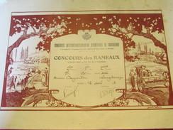 Diplôme / Animaux De Boucherie/ROUEN/Concours Des Rameaux/Prix /DUJARDIN/Longchamps/1938   DIP173 - Diplomi E Pagelle