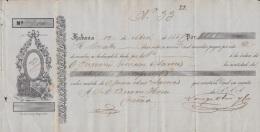E5232 CUBA SPAIN ESPAÑA. 1857 EXCHANGE BANK CHECK NORIEGA OLMO Y Ca. - Cheques & Traveler's Cheques