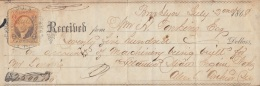E5233 US. EXCHANGE BANK CHECK 1868. - Cheques & Traveler's Cheques