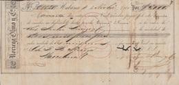 E5234 CUBA SPAIN ESPAÑA. 1860 EXCHANGE BANK CHECK NORIEGA OLMO Y Ca. - Cheques & Traveler's Cheques