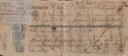 E5237 CUBA SPAIN ESPAÑA. 1879 EXCHANGE BANK CHECK GIROS + FOREIGN BILL UK. - Cheques & Traveler's Cheques