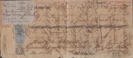 E5238 CUBA SPAIN ESPAÑA. 1872 EXCHANGE BANK CHECK GIROS + FOREIGN BILL UK. - Cheques & Traveler's Cheques