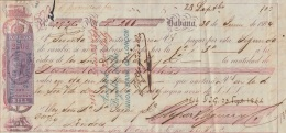 E5239 UK ENGLAND. 1864 CUBA SPAIN EXCHANGE BANK CHECK FOREIGN BILL UK. - Cheques & Traveler's Cheques