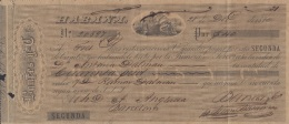 E5240 CUBA SPAIN ESPAÑA. 1870 EXCHANGE BANK CHECK BANCES Y Ca. - Cheques & Traveler's Cheques