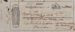E5243 CUBA SPAIN ESPAÑA. 1866 EXCHANGE BANK CHECK JUAN DE LA CAMARA Y Ca. - Cheques & Traveler's Cheques