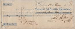 E5245 CUBA SPAIN ESPAÑA. 1859 EXCHANGE SOCIEDAD DE CREDITO INDUSTRIAL. - Cheques & Traveler's Cheques