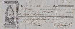 E5246 CUBA SPAIN ESPAÑA. 1853 EXCHANGE BANK CHECK NORIEGA OLMO Y Ca. - Cheques & Traveler's Cheques