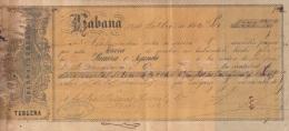 E5247 CUBA SPAIN ESPAÑA. 1866 EXCHANGE BANK CHECK SERRA Y SERRA. - Cheques & Traveler's Cheques