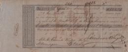 E5248 CUBA SPAIN ESPAÑA. 1863 EXCHANGE BANK CHECK CARDENAS. - Cheques & Traveler's Cheques