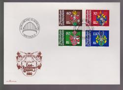 B 500) Liechtenstein 1980 Mi# 743-746 FDC: Wappen Der Landammänner (I) - Covers